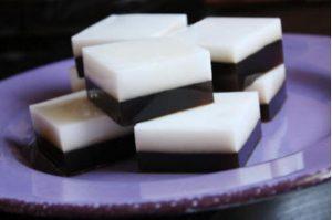 Thạch Cafe với nước cốt dừa